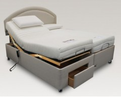 Furmanac Mibed 5ft (2 x 2ft6 linked) Delia Electrically Adjustable Bed