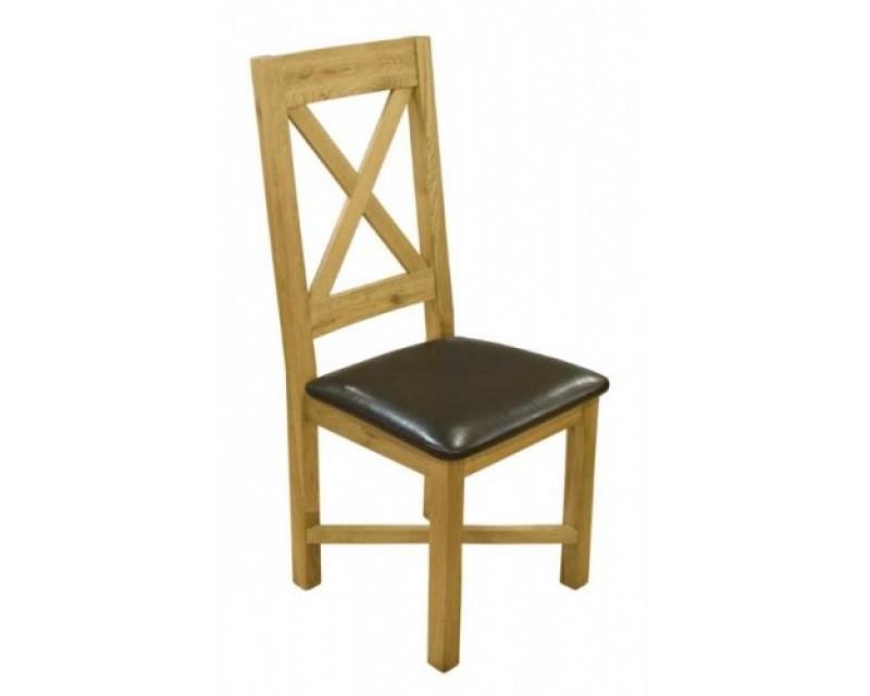 Cross Back Oak Dining Chair