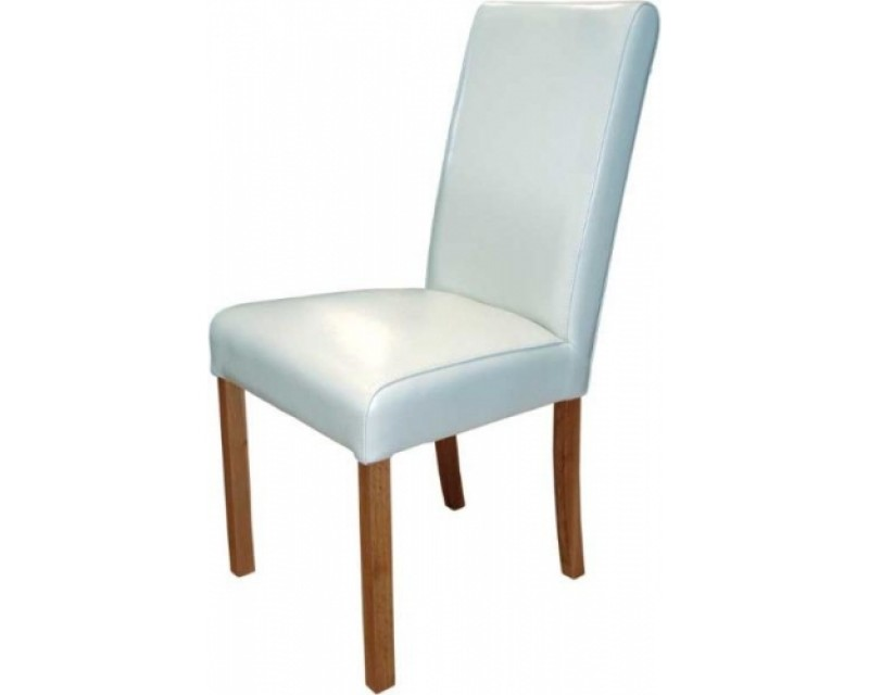 Marianna Leather Dining Chair in White
