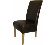 Reno Leather Dining Chair in Brown