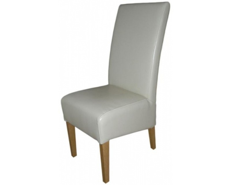 Reno Leather Dining Chair in Cream