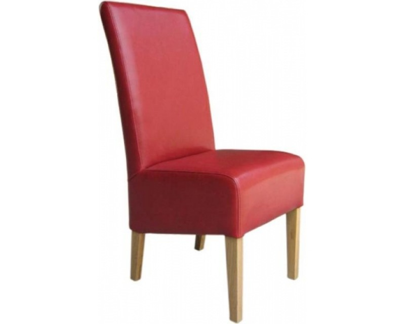 Reno Leather Dining Chair in Red