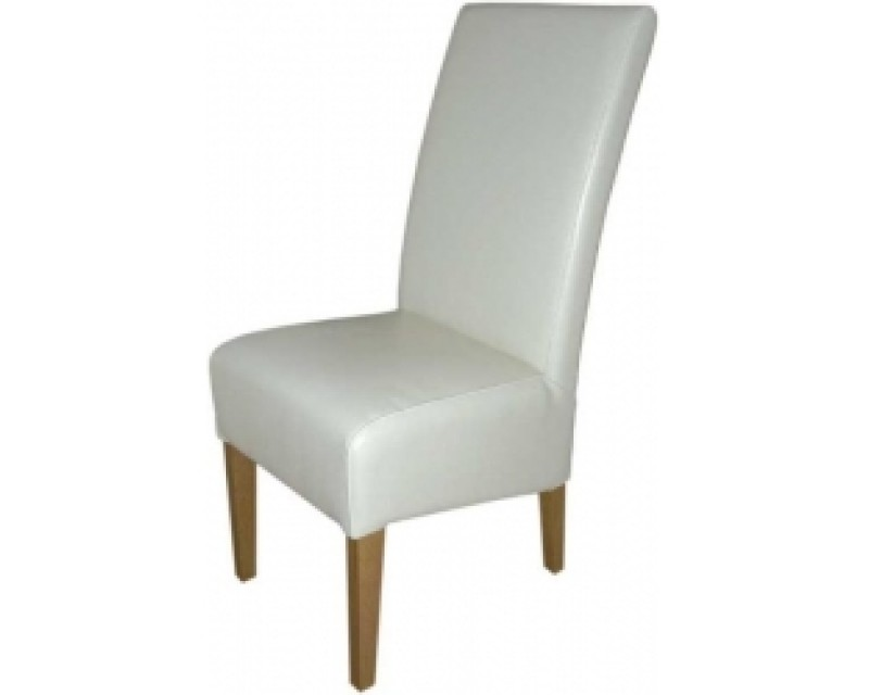 Reno Leather Dining Chair in White