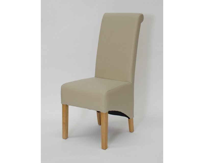 Rosie Leather Dining Chair in Bone
