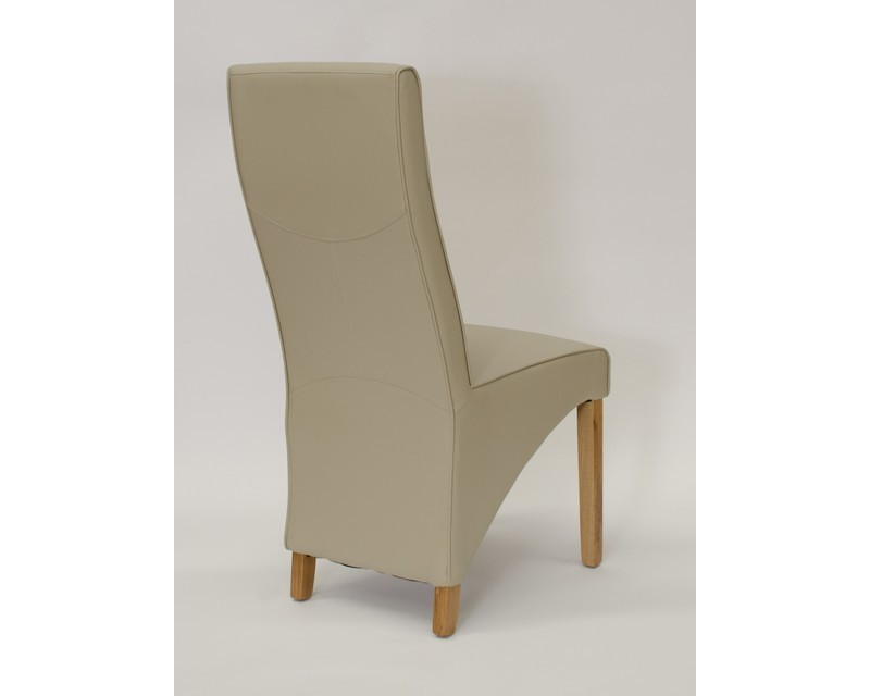 Whistler Leather Dining Chair in Bone