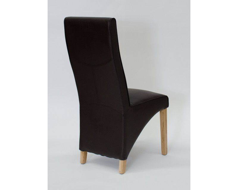 Whistler Leather Dining Chair in Chocolate