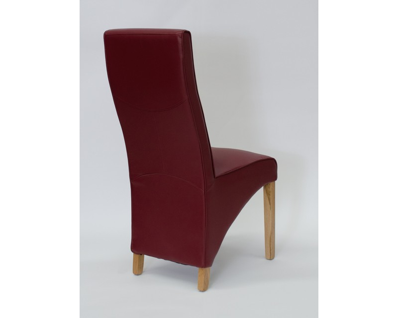 Whistler Leather Dining Chair in Ruby