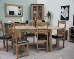 Chicago Oak Extending Dining Table