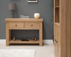 Marseille Solid Oak Console Table