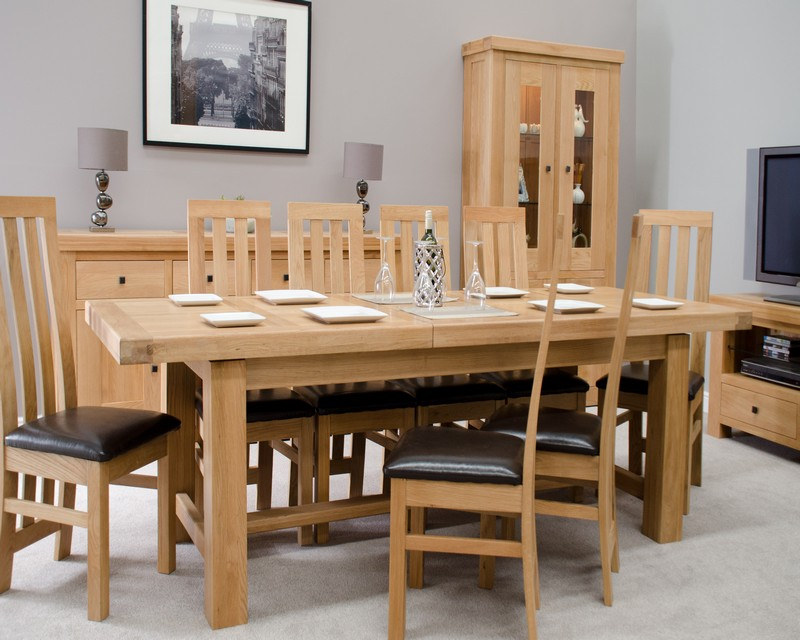 Marseille Solid Oak Large Extending Dining Table