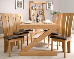 New York Solid Oak Dining Table 6ft x 3ft (With 6 Chairs)