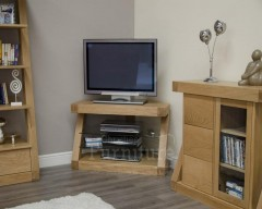New York Solid Oak Furniture Corner TV Unit