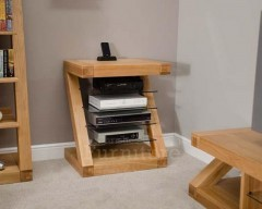 New York Solid Oak Hi Fi Cabinet