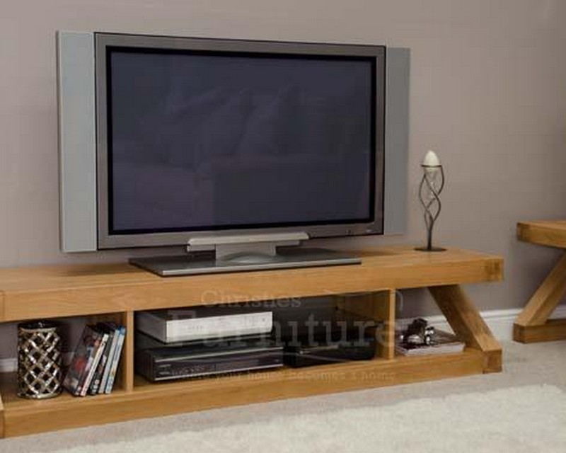 New York Solid Oak Furniture Large Plasma TV Unit