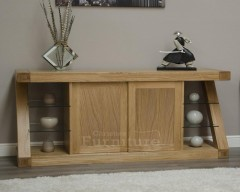 New York Solid Oak Large Sideboard Cupboard