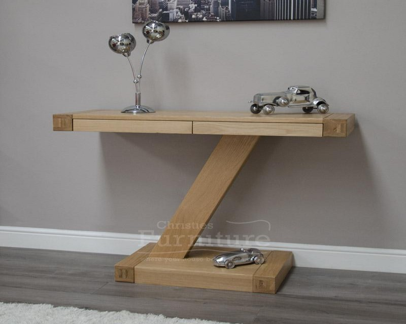 New York Solid Oak Console Hall Table