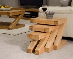 New York Solid Oak Nest of Tables
