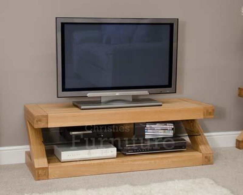 New York Solid Oak Furniture Plasma TV Unit