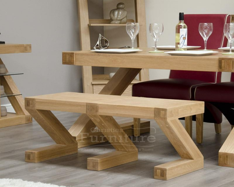 New York Solid Oak Small Bench