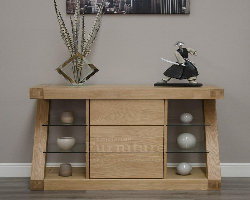 New York Solid Oak Sideboard with Drawers