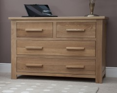 Sherwood Deluxe 2 over 2 Oak Bedroom Chest