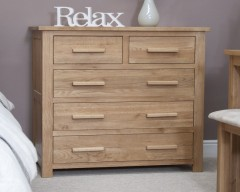 Sherwood Deluxe 2 over 3 Oak Bedroom Chest