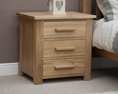 Sherwood Deluxe 3 Drawer Bedside Cabinet