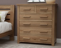 Sherwood Deluxe 2 over 4 Oak Bedroom Chest