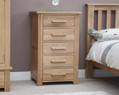 Sherwood Deluxe 5 Drawer Narrow Chest