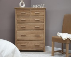 Sherwood Deluxe Jumbo 2 over 4 Oak Bedroom Chest