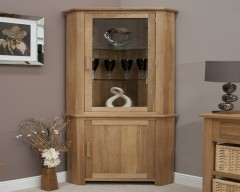 Sherwood Deluxe Oak Corner Display Unit