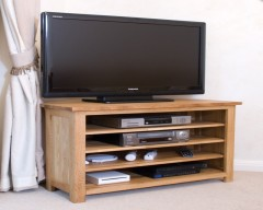 Sherwood Deluxe Oak Corner TV Unit