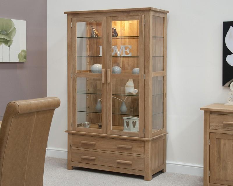Sherwood Deluxe Oak Glass Display Cabinet