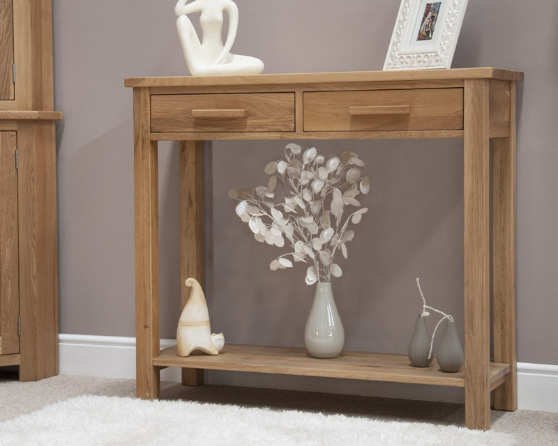 Sherwood Deluxe Oak Hall Console Table