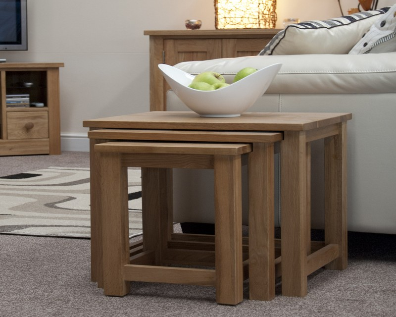 Sherwood Deluxe Oak Nest of Tables