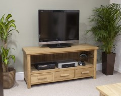 Sherwood Deluxe Oak Plasma TV Unit