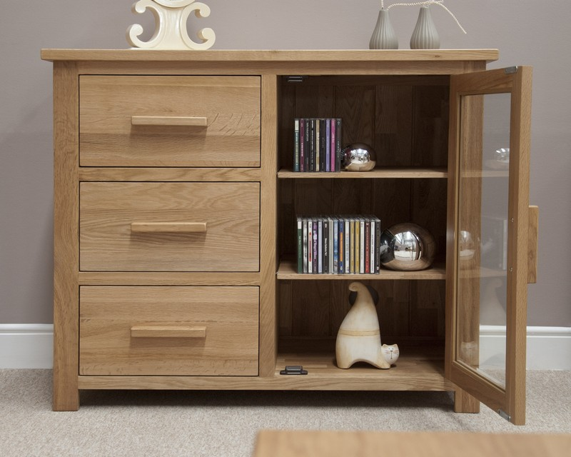 Sherwood Deluxe Oak Small Glazed Chest