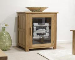 Sherwood Deluxe Oak HI FI Cabinet