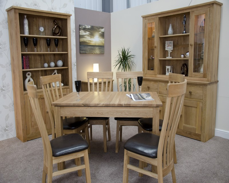 Lake Mead Solid Oak Extending Dining Table