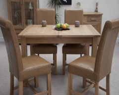 Sherwood Deluxe Oak Extending Dining Table