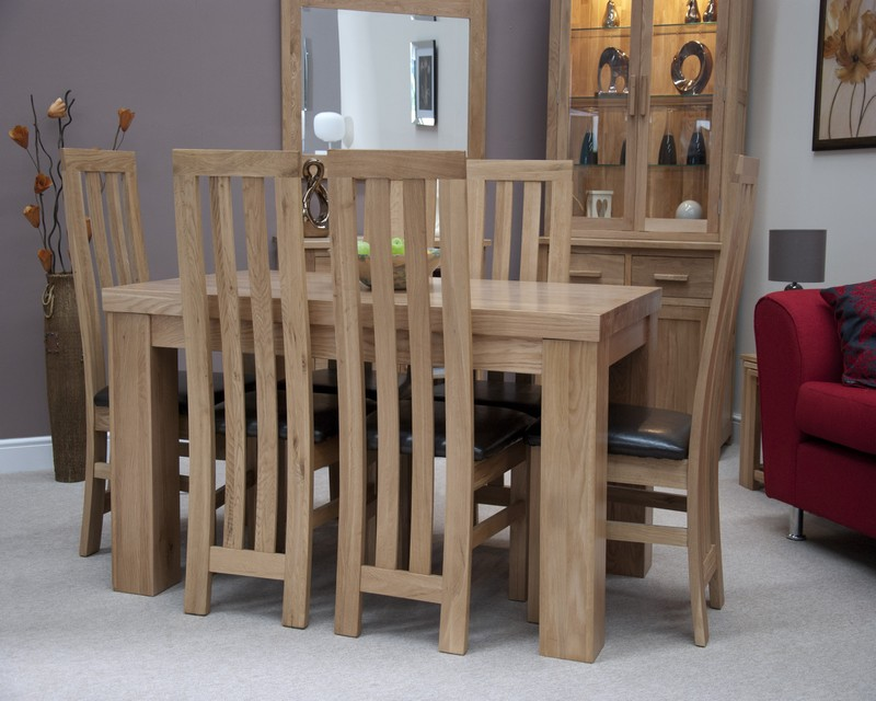 Thick Top Solid Oak Dining Table 5ft x 3ft