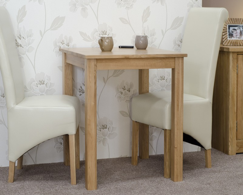 Lyon Solid Oak Small Dining Table 2ft6 x 2ft6