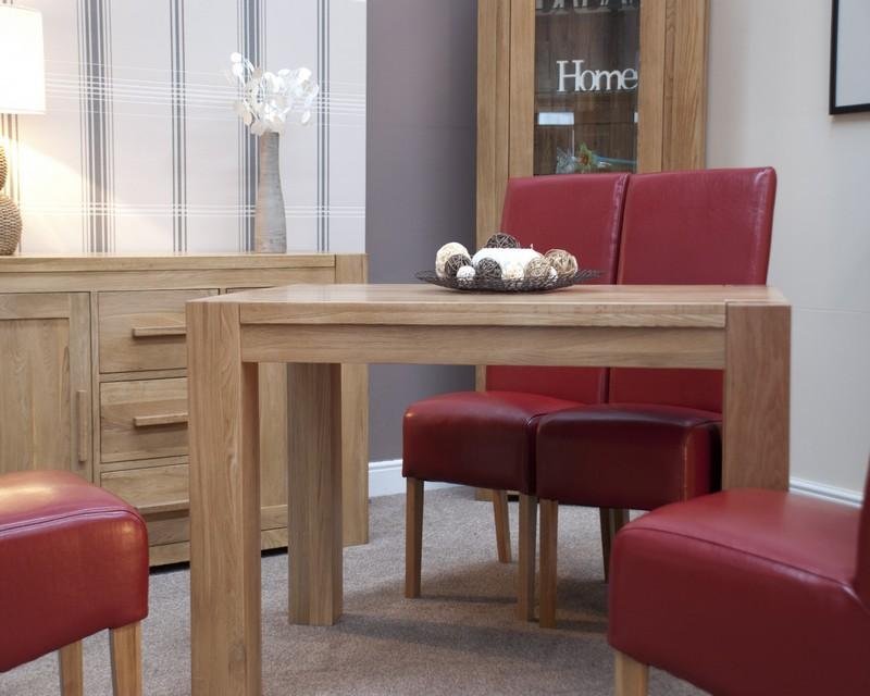Monaco Solid Oak Dining Table 80cm x 125cm