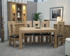 Monaco Solid Oak Dining Set with 4 Chairs