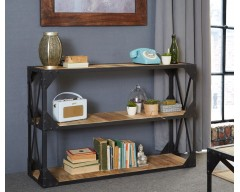 Alpina Industrial Console Table - Wooden/Metal