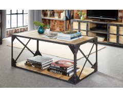 Alpina Industrial Coffee Table - Wooden/Metal