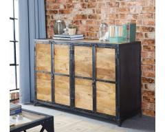 Alpina Industrial Large Sideboard - Wooden/Metal