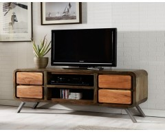 Amber Iron/Wooden - Greeno TV Media Unit
