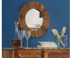 Cranbrooke Reclaimed Wood Round Mirror