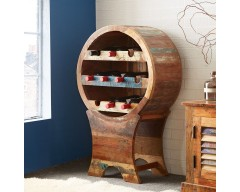 Cranbrooke Reclaimed Wood Wine Cabinet